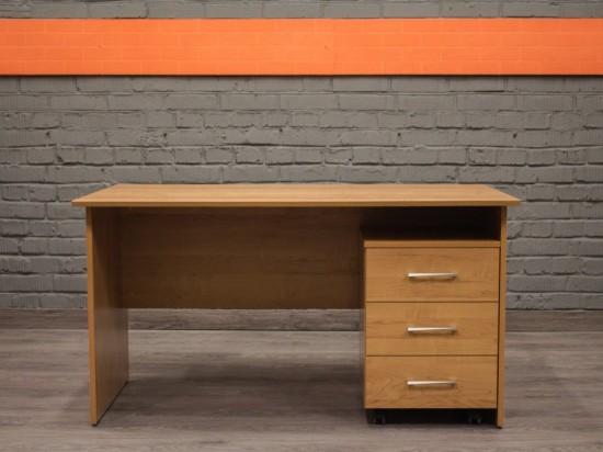 Новый стол прямой с тумбой Style, ольха