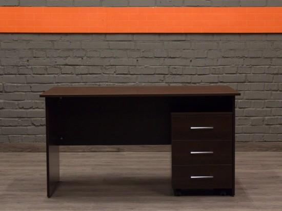 Новый письменный стол с тумбой Style, шоколад