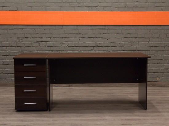 Компьютерный стол с тумбой новый Style, шоколад