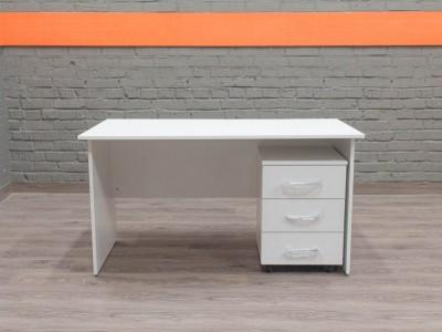 Письменный стол с тумбой новый Style, белый