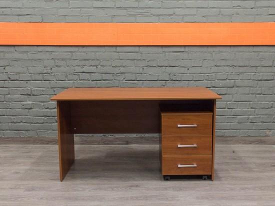 Компьютерный стол с тумбой, яблоня Локарно