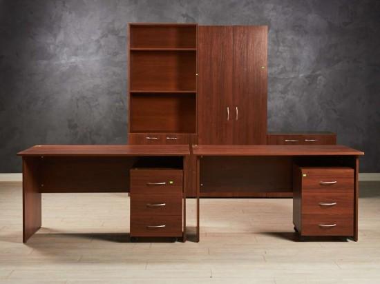 Комплект мебели для двоих сотрудников, цвет орех