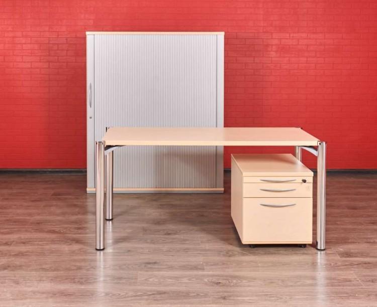Комплект мебели для сотрудника клён с серым